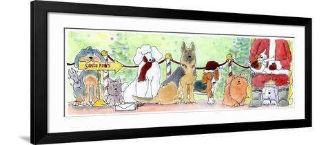 Santa Paws-Jennifer Zsolt-Framed Art Print