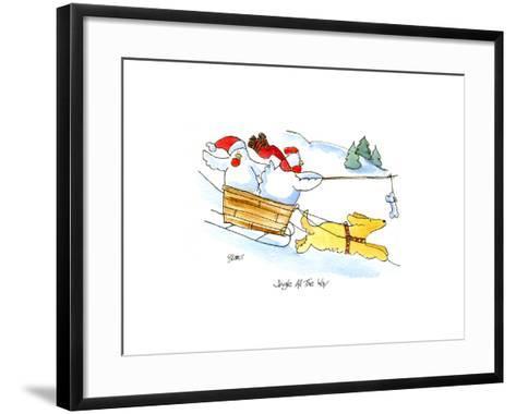 Dog Sled-Jennifer Zsolt-Framed Art Print