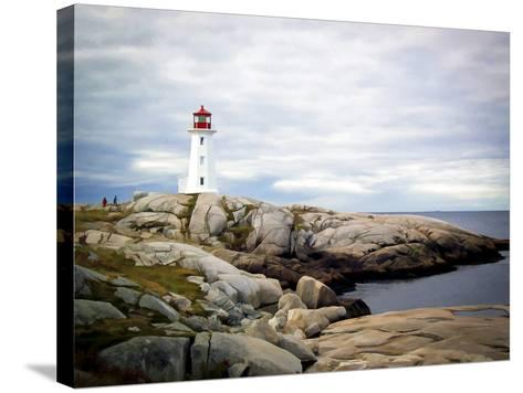 Peggy's Cove, NS-J.D. Mcfarlan-Stretched Canvas Print