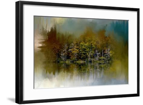 Abstract Summer Lake-Jai Johnson-Framed Art Print