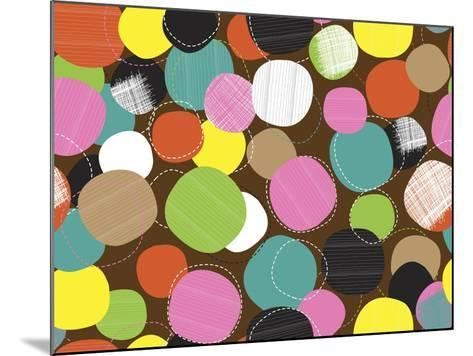 Textured Circles-Joanne Paynter Design-Mounted Giclee Print