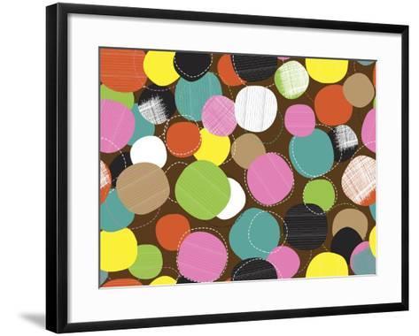 Textured Circles-Joanne Paynter Design-Framed Art Print