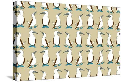 Blue Footed Booby-Joanne Paynter Design-Stretched Canvas Print