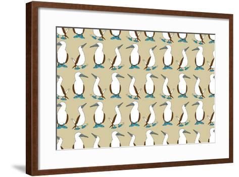 Blue Footed Booby-Joanne Paynter Design-Framed Art Print