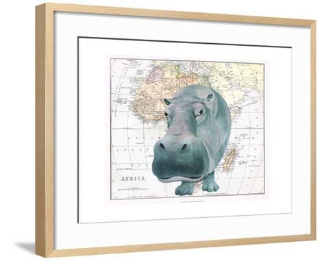 African Hippo-Jane Wilson-Framed Art Print