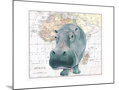 African Hippo-Jane Wilson-Mounted Giclee Print