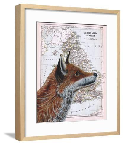 British Fox-Jane Wilson-Framed Art Print