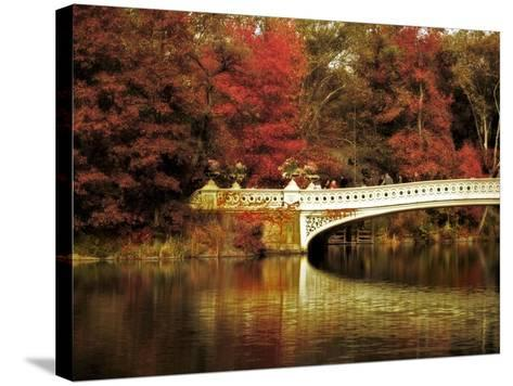 Fall at Bow Bridge-Jessica Jenney-Stretched Canvas Print
