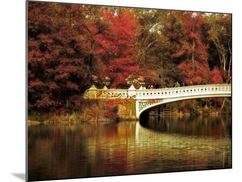 Fall at Bow Bridge-Jessica Jenney-Mounted Giclee Print