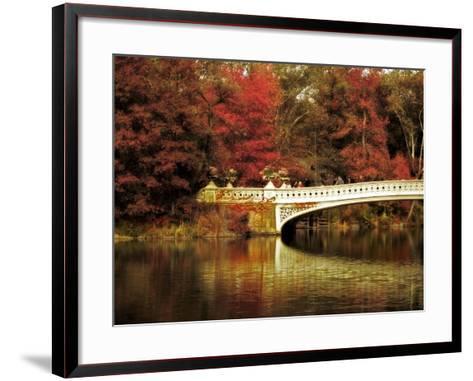 Fall at Bow Bridge-Jessica Jenney-Framed Art Print