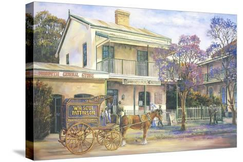 Doing the Rounds-John Bradley-Stretched Canvas Print