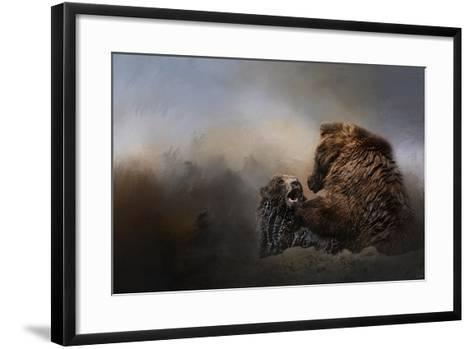 Grizzlies in the Water-Jai Johnson-Framed Art Print