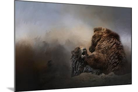 Grizzlies in the Water-Jai Johnson-Mounted Giclee Print