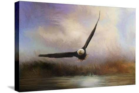 Eagle in the Marsh-Jai Johnson-Stretched Canvas Print