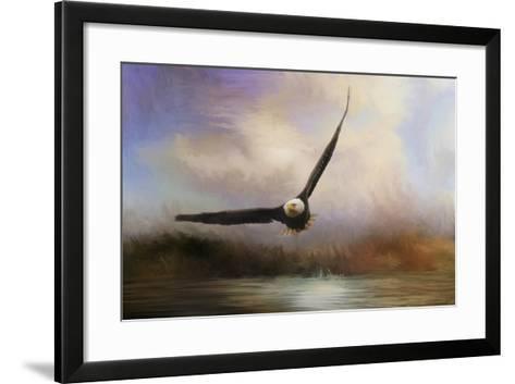 Eagle in the Marsh-Jai Johnson-Framed Art Print