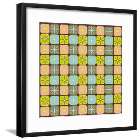 Geometric Floral Box-Joanne Paynter Design-Framed Art Print