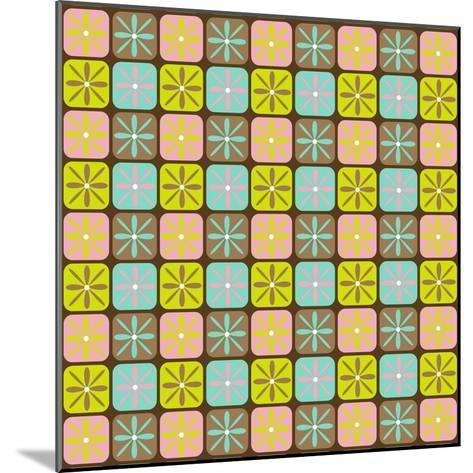 Geometric Floral Box-Joanne Paynter Design-Mounted Giclee Print