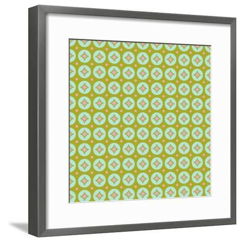 Geometric Circles-Joanne Paynter Design-Framed Art Print