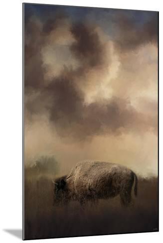 Bison Grazing at Sunrise-Jai Johnson-Mounted Giclee Print