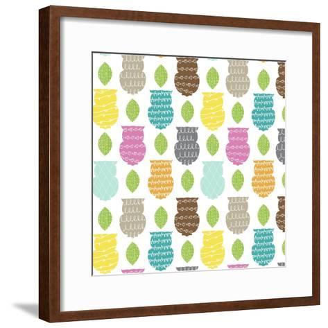 Owl Scribble-Joanne Paynter Design-Framed Art Print