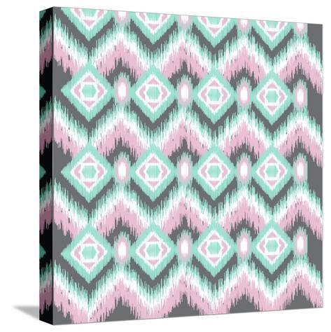 Pastel Ikat-Joanne Paynter Design-Stretched Canvas Print