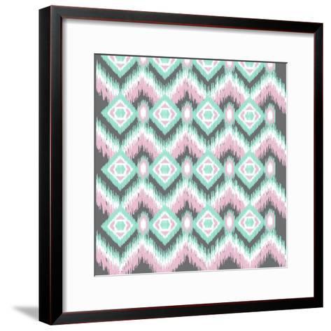 Pastel Ikat-Joanne Paynter Design-Framed Art Print