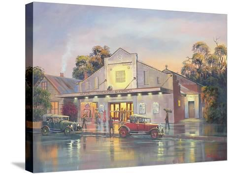 A Night at the Movies-John Bradley-Stretched Canvas Print