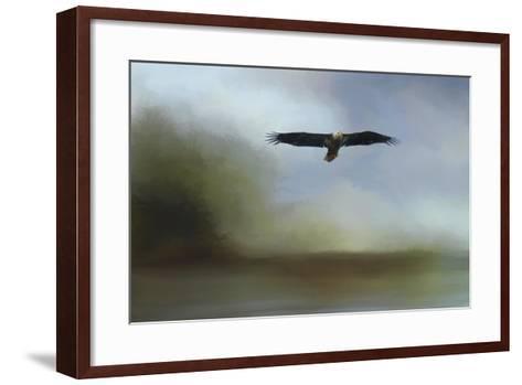 Juvenile Eagle at the Lake-Jai Johnson-Framed Art Print