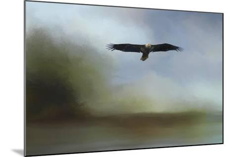 Juvenile Eagle at the Lake-Jai Johnson-Mounted Giclee Print