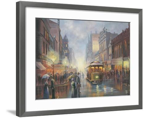 Sydney by Gaslight-John Bradley-Framed Art Print