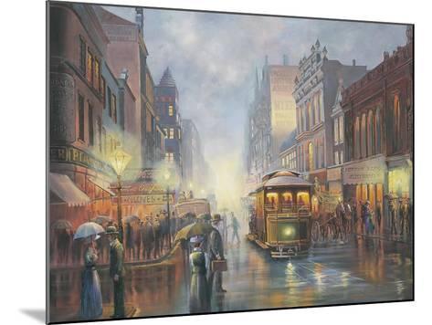 Sydney by Gaslight-John Bradley-Mounted Giclee Print