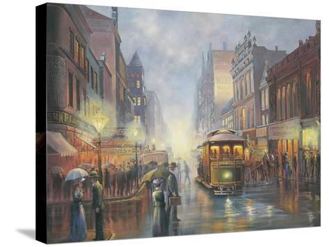 Sydney by Gaslight-John Bradley-Stretched Canvas Print