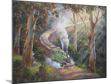 Puffing Billy in Sherbrook Forest-John Bradley-Mounted Giclee Print