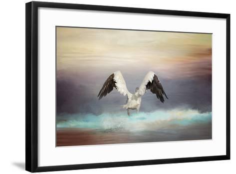 Early Morning Swim-Jai Johnson-Framed Art Print