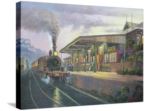 Day's End - Morpeth-John Bradley-Stretched Canvas Print