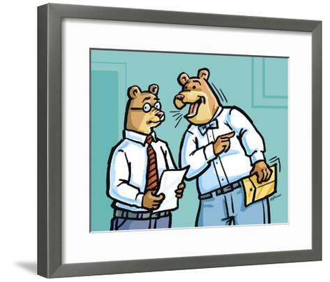 Office Bears-Jerry Gonzalez-Framed Art Print
