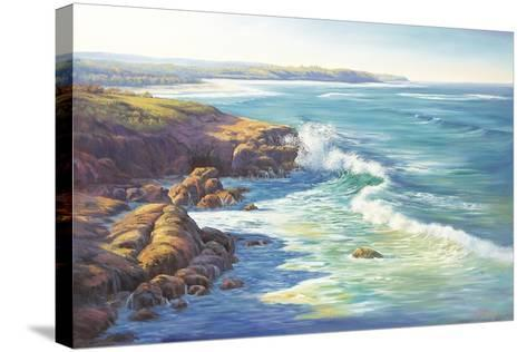 Surge of the Sea-John Bradley-Stretched Canvas Print