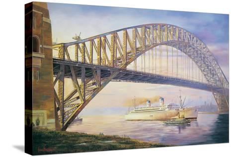 Days of Steam-John Bradley-Stretched Canvas Print