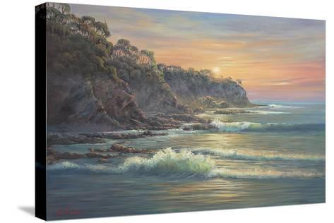 South Coast Sunrise-John Bradley-Stretched Canvas Print