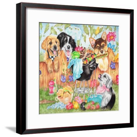 Hot Dogs-Karen Middleton-Framed Art Print