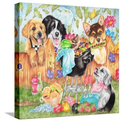 Hot Dogs-Karen Middleton-Stretched Canvas Print