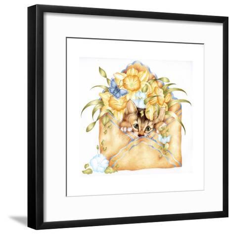Kitty Post-Karen Middleton-Framed Art Print