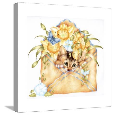 Kitty Post-Karen Middleton-Stretched Canvas Print