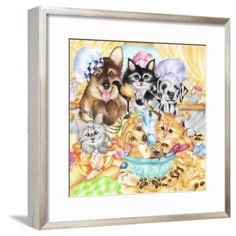 Pawsome Bakery-Karen Middleton-Framed Art Print