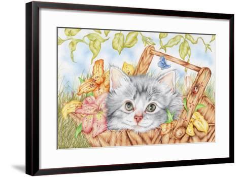 Lily Basket-Karen Middleton-Framed Art Print