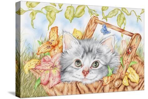 Lily Basket-Karen Middleton-Stretched Canvas Print
