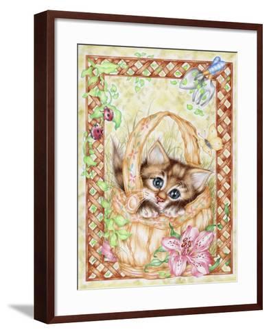 Peeping-Karen Middleton-Framed Art Print