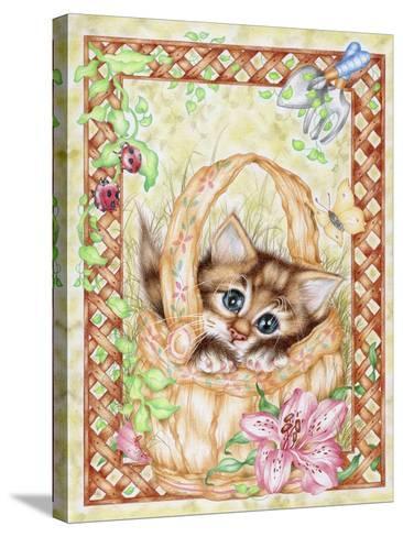 Peeping-Karen Middleton-Stretched Canvas Print