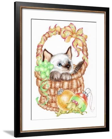 Siamese Christmas-Karen Middleton-Framed Art Print