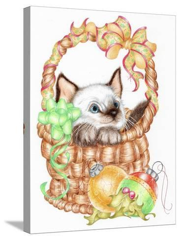 Siamese Christmas-Karen Middleton-Stretched Canvas Print